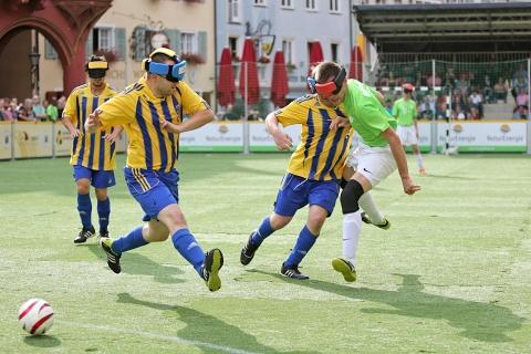 Spannende und hochklassige Partien bei der Blindenfussball-Bundesliga